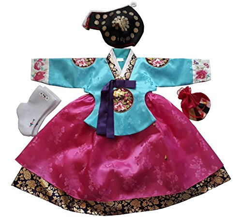 Hanbok Korean Traditional Hanboks Babies Girls Dress...