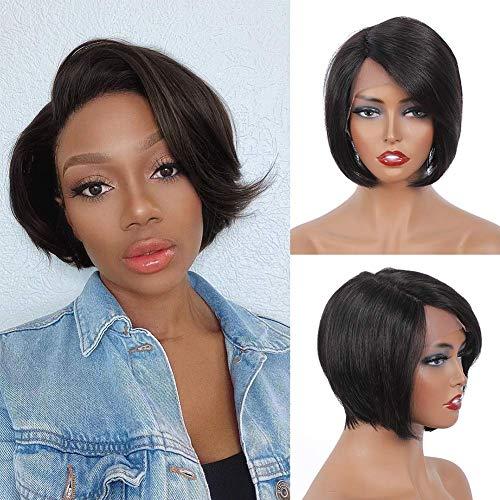 "BLISSHAIR 13"" X 4"" Lace Wig Cap - Perruque Bresilienne Lace Frontal Wigs - Cheveux Humain Bob Naturel (10"")"