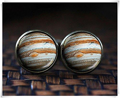Jupiter Boutons de manchette, Galaxy Boutons de manchette, capacité, boutons de manchette, Planet Boutons de manchette