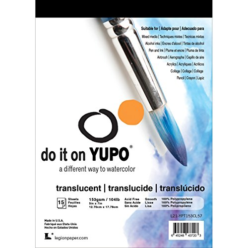 Yupo Paper L21-YUP153CL57 Translucent Sheets (15 Pack), 5' x 7'