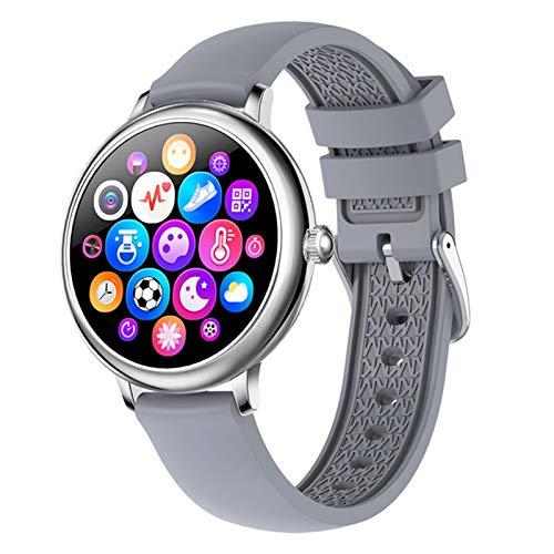 AKL Redondo Lady Smart Watch CF80 Tasa Cardíaca Y Monitoreo De La Presión Arterial Podómetro Bluetooth Smart Pulsera Smart Watch,D