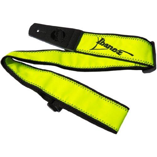 Ibanez Gitarrengurt, limitierte Auflage, Neon, fluoreszierendes Gelb