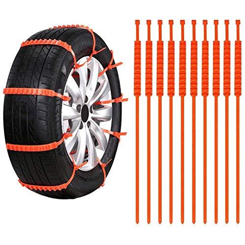GPYONCT Cadenas Antideslizantes para Coche de 20 Piezas, Cadenas para neumáticos de Barro y Nieve, Bridas para Ruedas de neumáticos para Coches, Camiones, SUV, neumáticos, conducción de Emergencia