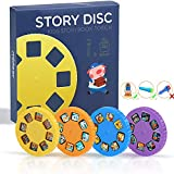 Story Disc 4 Fairy Tales Movies 32 Diapositivas para Story Projection Torch Story Film Replacement para niños Sleep...