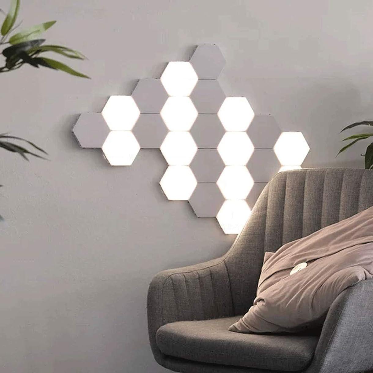 ありそう見つけた幻滅する導かれた六角形の軽い接触敏感な夜ライトモジュラータッチの装飾の壁の六角形の壁ランプの居間の寝室の調査(16 PC)