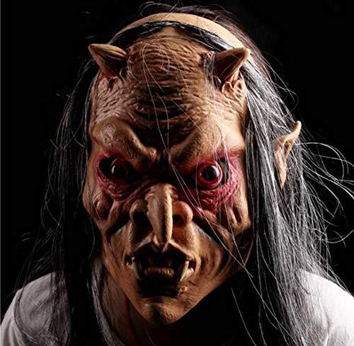 Masken Halloween-Maskerade ganzer Mann-Grimassen-Teufel-rote Augen-graue Terroristen