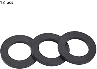 12pcs Flat Rubber Washers Rubber O-Ring Seals Water Pipe Connector Replacement for Faucets and Shower Head(1 inch)