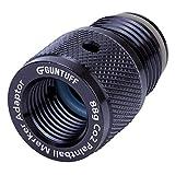 GunTuff - Adaptador de cilindro de 88 g y 90 g FP Co2 para pistolas de paintball, adaptador de aluminio anodizado negro
