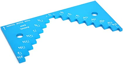 Medidor de profundidad de sierra de mesa, medidor de altura de sierra de mesa profesional, medidor de profundidad de mesa de enrutador duradero, para herramienta de bricolaje Dispositivo de
