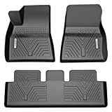 YITAMOTOR Floor Mats Compatible with Tesla Model 3, Custom Fit Floor Liners for 2017-2021 Tesla Model 3, 1st & 2nd Row All Weather Protection