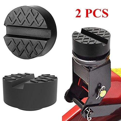 2PCS Bloque de Goma Gato para Elevador Coche Taco Goma Protector Universal con Ranura 65*35mm