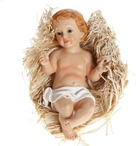 Ferrari & Arrighetti Figuras Belén: Niño Jesús en la cuna de 20 cm para Nacimiento