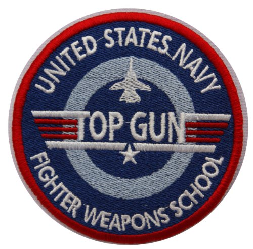 Top Gun Gesticktes Abzeichen