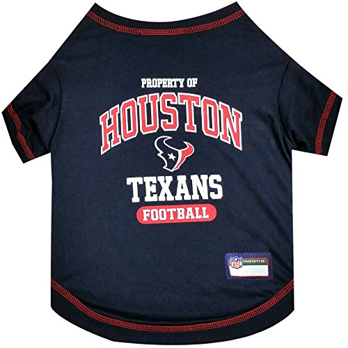 PET SHIRT for Dogs & Cats - NFL HOUSTON TEXANS Dog T-Shirt, Small. - Cutest Pet Tee Shirt for the real sporty pup