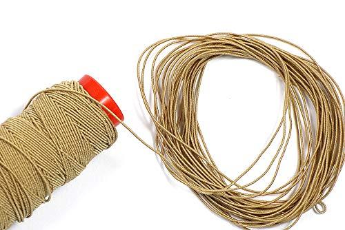 Matsa (3pcs) 90m Hilo Especial Peluca Pelo (3 bobinas x 30m), Cordón Elástico Extensión, Trenzar y Tejer, Alabaster, 90 m