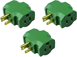 HomeHopes 3 Outlet Plug Adapter, 3 Way Electrical Outlet Adapter, 3 Way Outlet Splitter Adapter