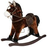 'Cheval à bascule Chiko, est un cheval à bascule magnifique, travaillé très aufwendig. Très Haute Qualité, Très résistant couleur Marron avec fonction au galop et bruits gewieher '