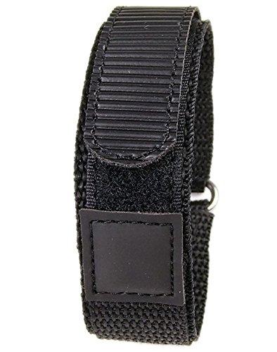 Minott Uhrenband Textil schwarz 22 RE-19136