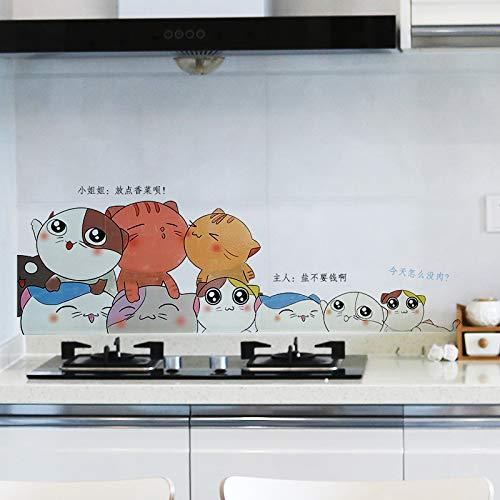 Ölfeste Aufkleber wasserdichte selbstklebende Küche liefert Dunstabzugshaube Kochfeld Fliesen Wandaufkleber Tapete Wandaufkleber 60X90cm