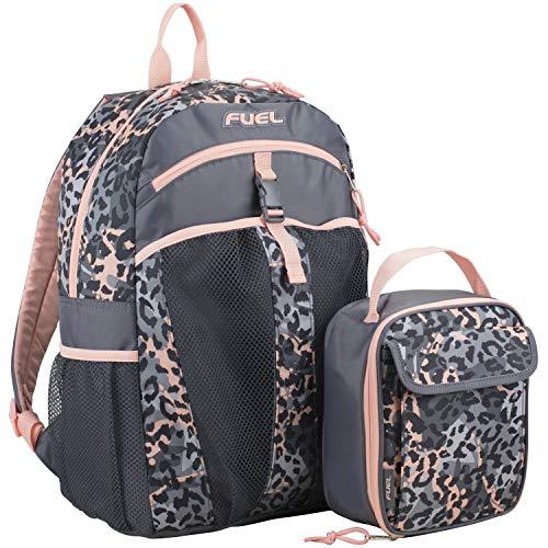 Fuel Backpack & Lunch Bag Bundle, Blush/Gray/Cheetah Tie Dye Print