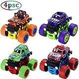 Monster Trucks for Boys Toys- Friction Powered 4-Pack Push and Pull Car Monster Jam Trucks, Inertia Toy Early...