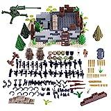 WWEI Juego de armas militares de guerra WW2 para niños, minisoldados, figuras SWAT compatibles con Lego