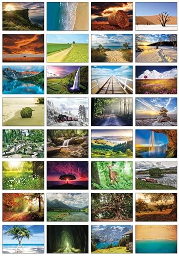 Auswahl an Natur-Postkarten: 32 Postkarten in verschiedenen Naturmotiven (Schöne Landschaften)
