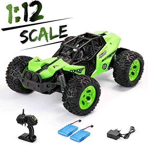 SainSmart Jr. 2WD RC Coche Teledirigido,1:12 Off-Road Crawler Camiones con 2 Baterías Recargables, 2.4GHz Drift Electricos para Niños 6+ Años