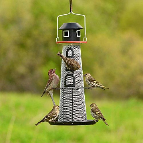 Perky-Pet LH00355 Solar Lighthouse Finch Bird Feeder