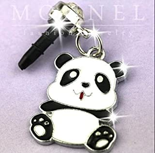 IP458-B Cute Fat Panda Baby Cell Phone Charm Dust Proof Plug Cover for iPhone Android 3.5mm