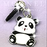 Cute Fat Panda Baby Cell Phone Charm Dust Plug for iPhone Huawei iPad iPod Samsung MI Android Phone with 3.5mm Earphone Jack IP458-B