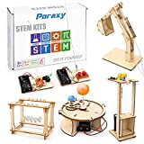 5 Set STEM Kit, Wooden Building Kits, Assembly 3D Puzzles, Educational DIY STEM Toys , Science Experiment Projects for Boys and Girls