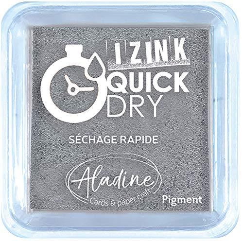 Aladine Encreur Izink Quick Dry, Argent, 5 x 5 cm