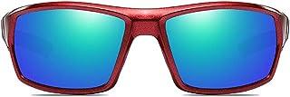 SWNN - SWNN Gafas de Sol Gafas De Sol Deportivas Antideslumbrantes De Aluminio Y Magnesio for Exteriores, con Marco Rojo, Lentes Y Lentes Verdes con Las Mismas Gafas De Sol Polarizadas.