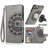 CASEOWL iPhone 8 Plus Case,iPhone 7 Plus Flip Embossed Leather...