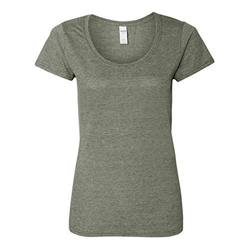 Gildan -  T-Shirt - Donna Graphite Chiné Medium
