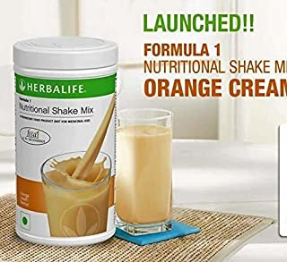 Herbalife Formula 1 Shake Nutritional Mix - 500 Grams - Healthy F1 Nutritional Meal Replacement Protein Powder Diet - Weight Loss Supplements for Men and Women (Orange Cream)