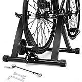 WGFGXQ Rodillo de Entrenamiento para Bicicletas, Entrenador de Bicicleta Plegable de Acero, Bicicleta estática para Interiores, Entrenador de Bicicleta Rodillo de Entrenamiento para Bicicletas, BIC