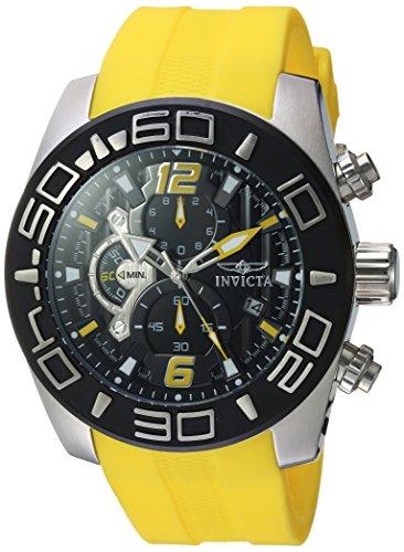 Invicta Men Analog Quartz Watch with Silicone Strap 22808