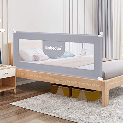 ベッドフェンス ベッドガード 無添加素材 お布団ズレ 蹴り出し お子様のベッドからの 転落防止 組み立ても簡単 幼児用 収納便利 1枚セット 日本語説明書付き (1.8m) (1.8m)