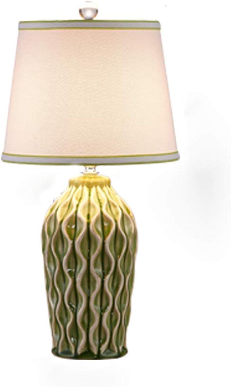 Keramische Tischlampe Schlafzimmer Nachttischlampe retro Wohnzimmer Tischlampe B07J3YV36C       | Leicht zu reinigende Oberfläche  f281db