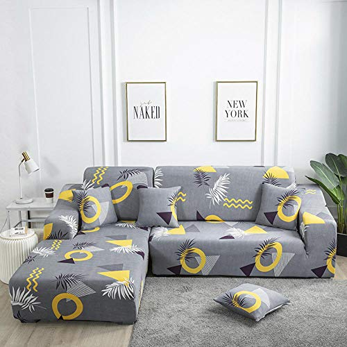 Fsogasilttlv Moderna Elastica Funda de Sofa 4 plazas, Funda de sofá Funda elástica para Sala de Estar, Funda de sofá Chaise Longue en Forma de L H 235-300cm