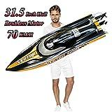 Lancha de Control Remoto Grande para Adultos, S2.0 Pro RC Brushless Boat Submarine 70km / h + Global...