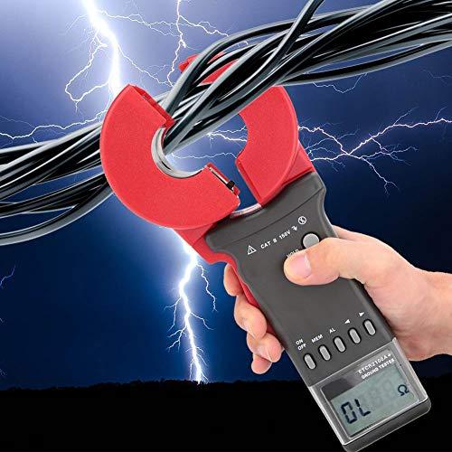 Clamp Resistance Meter,Digitale Erdungsmesszange Erdungswiderstandsmesser Digitales Widerstandsmessgerät Digital widerstand Meter Widerstand Tester 1-199Ω,0,01-200 Ω,viel Zubehör