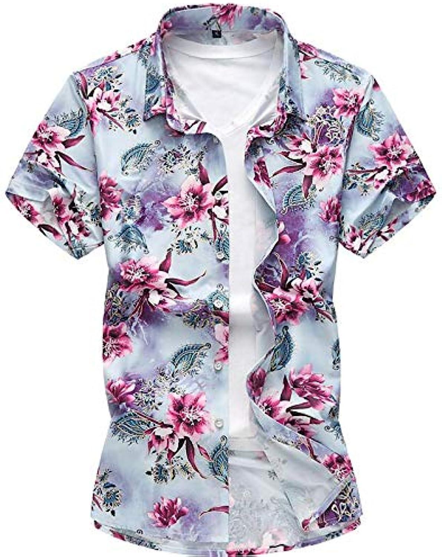 Men's Shirt  Geometric Classic Style Short Sleeve