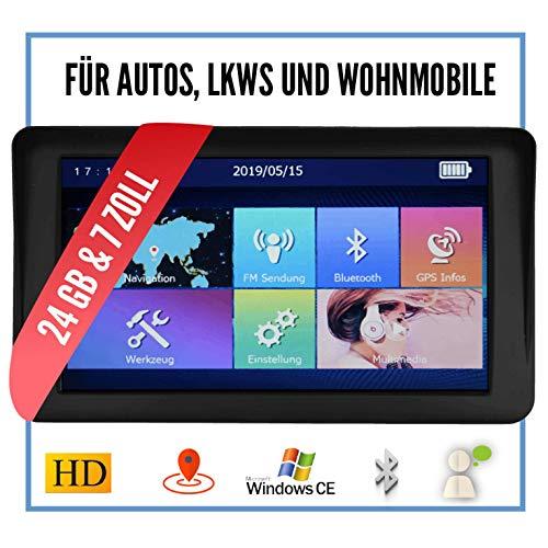 Elebest City 70A+ Navigationsgerät Auto, PKW, LKW, Wohmobil - Großes 7 Zoll Touchscreen HD Display - 24 GB, Fahrspurassistent, Bluetooth - Radarwarner, EU Karte, Topaktuelles 3D Kartenmaterial