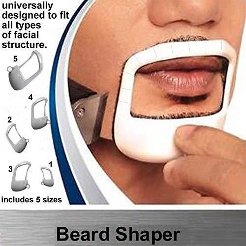 G-Beard Bartschablone Rasierschablone Easy Men Rasierhilfe, hochwertiges Bart Styling Tool Bartvorlage Werkzeug für den Gentlemen Kurven-/Stufen-/gerade Bartlinien Schnitt