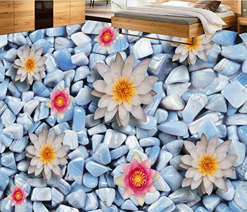 Papel pintado de vinilo para suelo 3d personalizado para baño, sala de estar, dormitorio, suelo de piscina, papel tapiz autoadhesivo, decoración para el hogar, 350 * 275cm