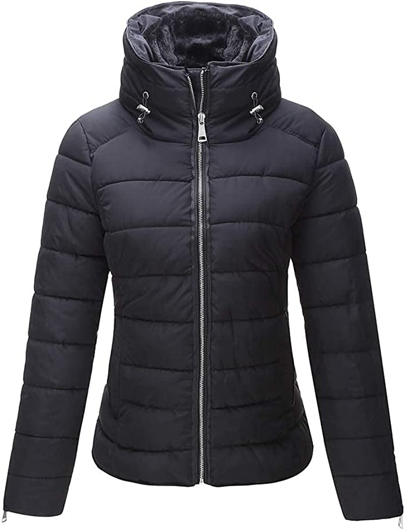 Giolshon Puffer Coat Quilted Lightweight Padding Bubble Jacket for Women