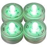 LED-Highlights Deko Kerzen Teelichter 4 er Set grün leuchtend wasserdicht kabellos Batterie Stimmungslicht Tischlampe Innen Aussen